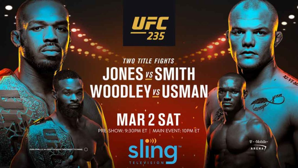 how to watch ufc 235 on sling tv
