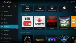 how to install just sports on kodi jarvis version 16 or higher